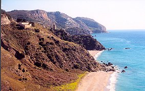 The coastline between Nerja and La Herradura is a natural park